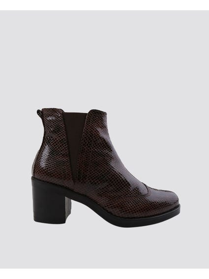 Brown Stylish Ankle Boots