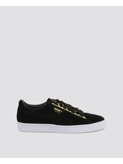 Suede Jewel Sneakers