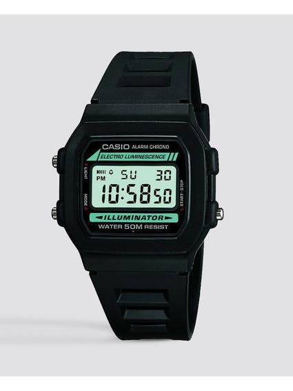 Black Resin Strap Digital Watch