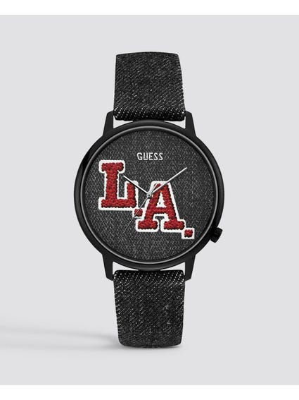 L.A. Originals Black Dial Leather Watch