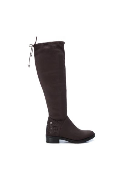 Plain Zip High Knee Boots