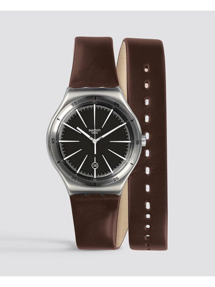 Brown Doppiogiro Analog Watch