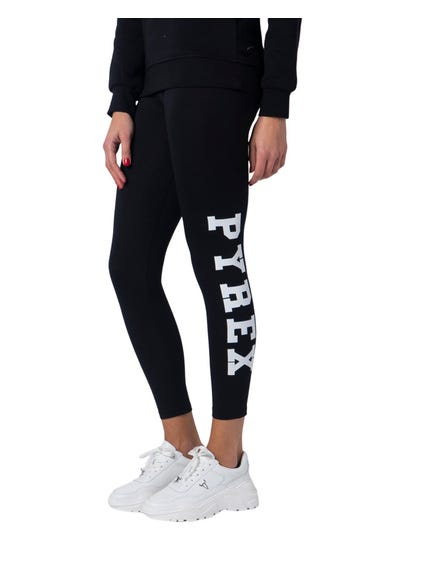 Black Stampa Lato Leggings