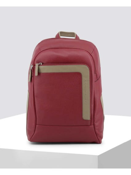 Red Vintage Look Backpack