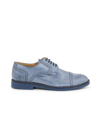 Blue Cerato Leather Lace Up Shoes