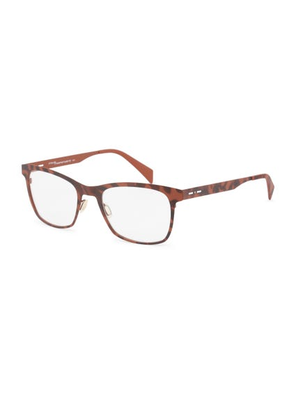Brown Skin Tone Dotted Nose Bridge Wayfarer Eyeglass