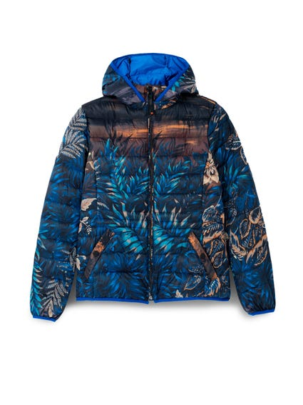 Printed Hooded Zip Jacket