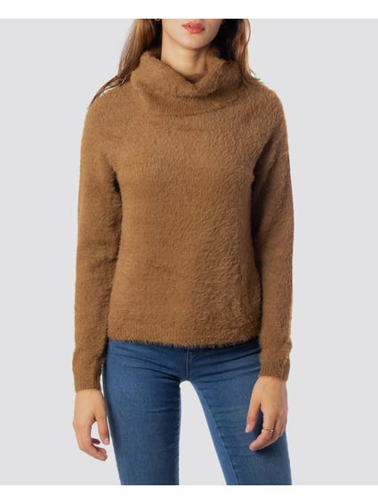 High Neck Ribbed Knitwear