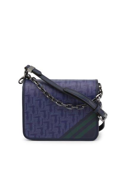 Blue Small Chain Handle Clutch Bag