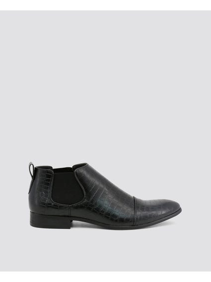 Black Jones Low Ankle Boots