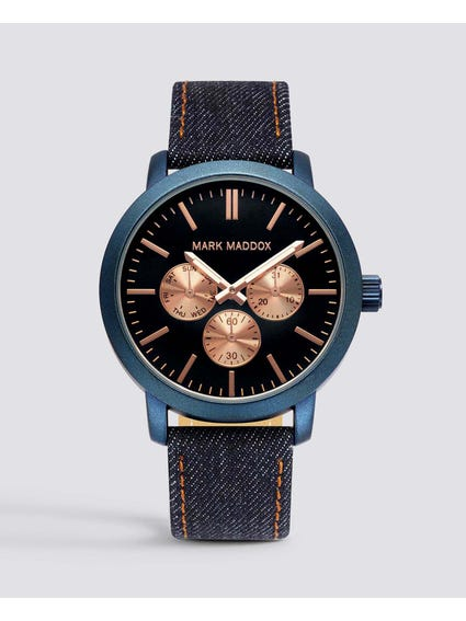 Fabric strap Black Dial Watch