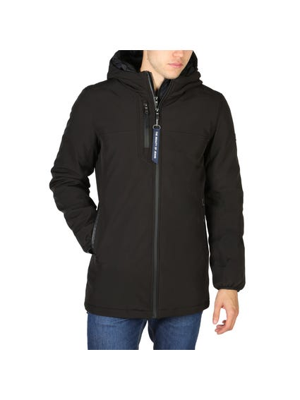 Black Hood Full Zip Jacket
