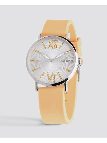 Yellow Quartz Silicone Watch