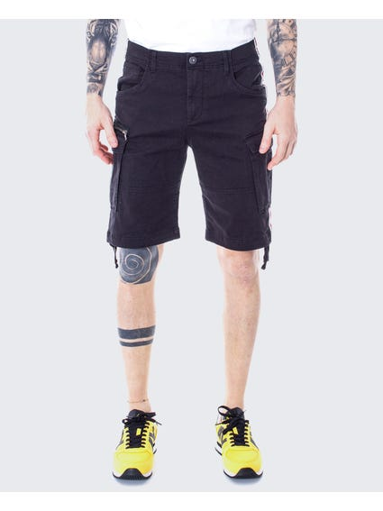 Black Plain Cargo Short