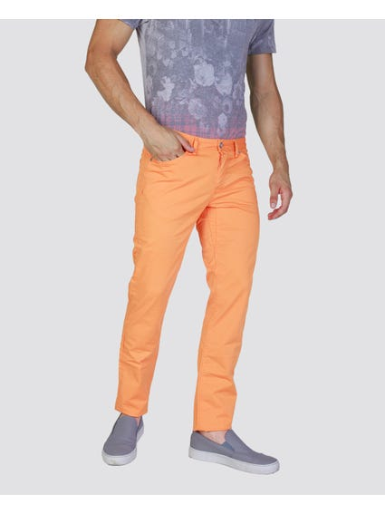 Orange Plain Chino Trouser