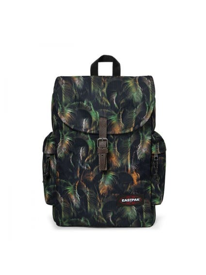 Green Buckle Printed Backpack