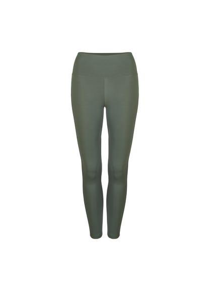 Grey Classic Elastic Plain Leggings