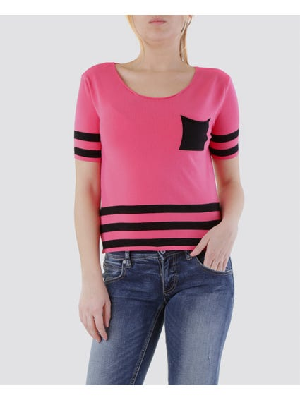 Striped Print Knitted Top