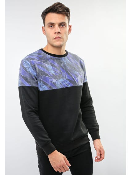 Local Blue Leaf Sweatshirt