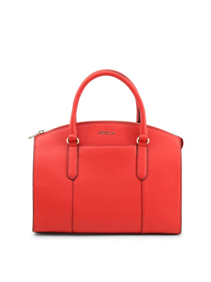 Red Handle Zip Handbag