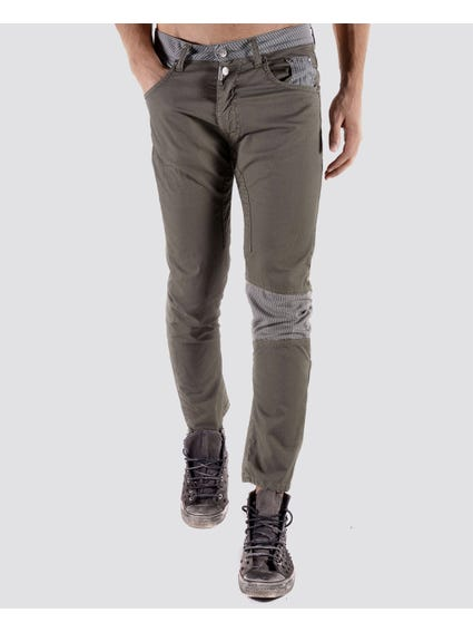 Green Plain Skinny Pants