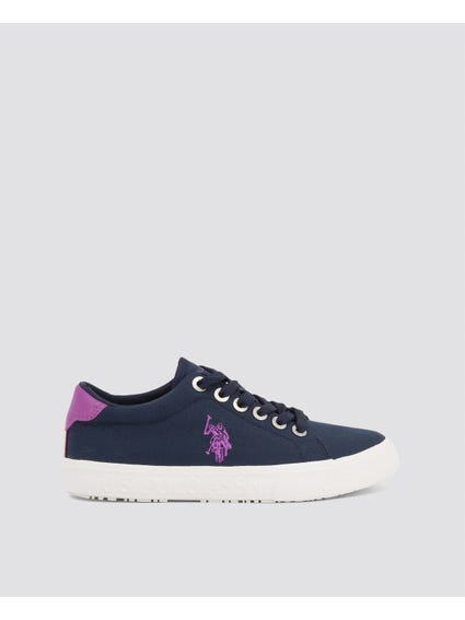Blue Marew Round Toe Sneakers