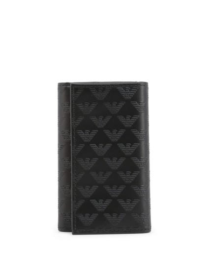 Black Metallic Fasten Envelope Wallet