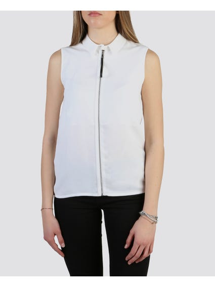 White Plain Blouse