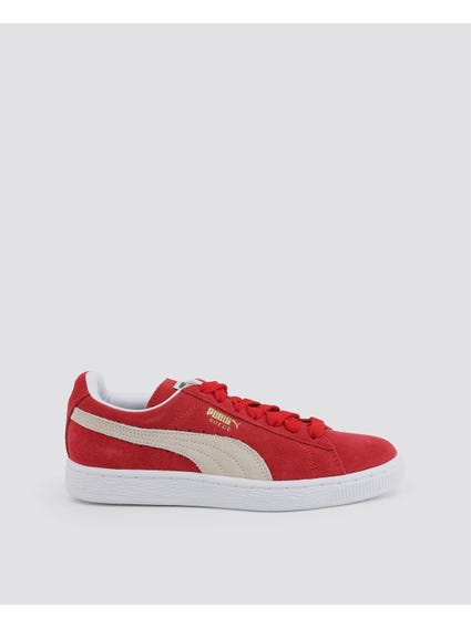 Red Classic Suede Low Top Sneakers