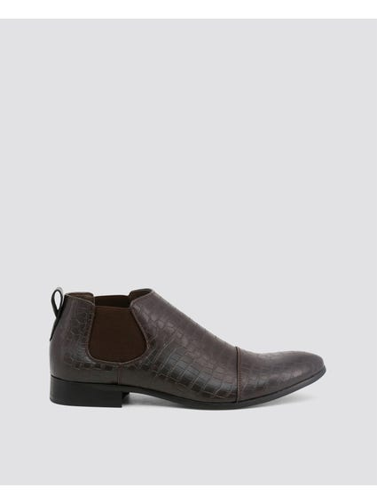 Brown Jones Low Ankle Boots