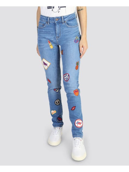 Embellish Patch jeans