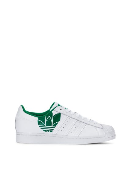 White Green Superstar Sneakers
