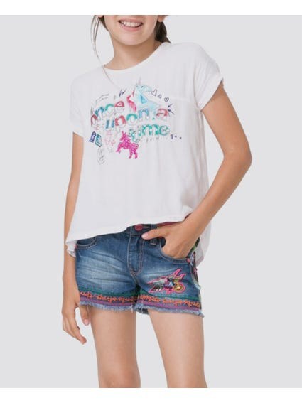 Printed Short Sleeves Kids T-Shirt