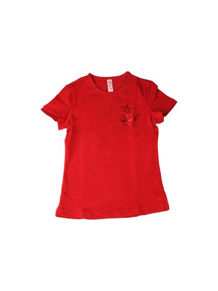 Crew Neck Short Sleeve Kids Top