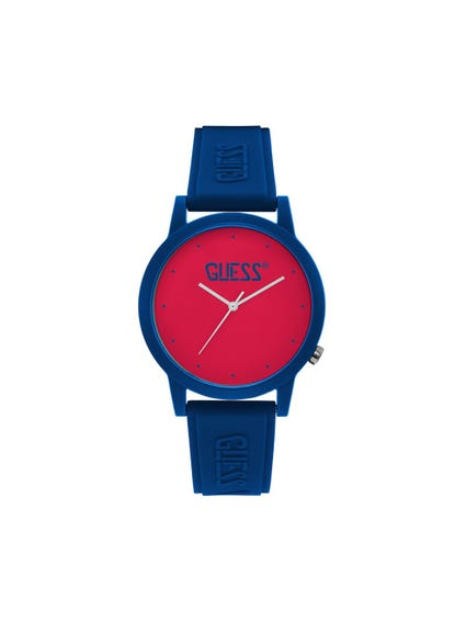 Red Dial Analog Watch