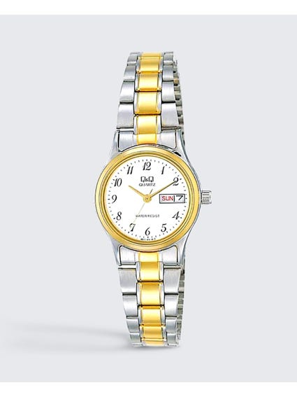 Stainless Steel Two Tone Analog Watch