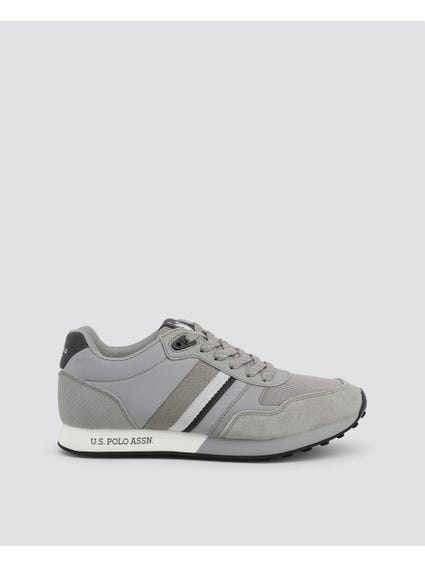 Grey Flash Printed Logo Sneakers