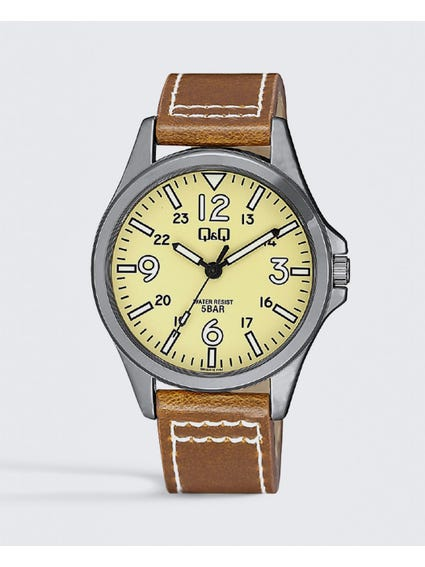 Brown Classic Leather Analog Watch