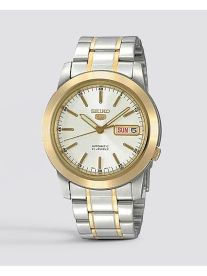 Silver Two Tone Stainless Steel Watch