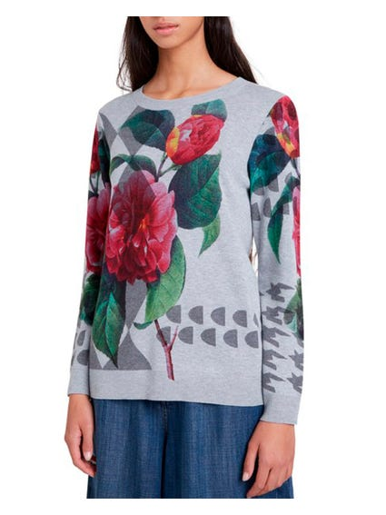 Contras Floral Long Sleeve Sweatshirts