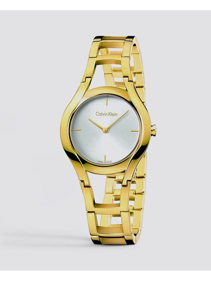 Class Silver Dial Rose Gold Tone Watch