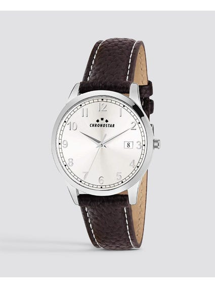 White Dial Round Case Watch