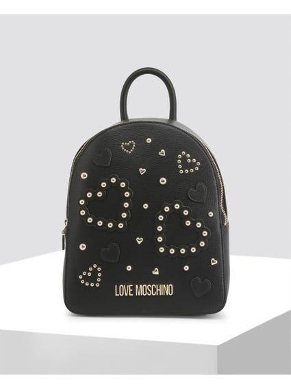 Black Heart Studs Backpack