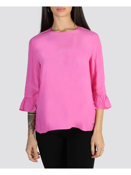 Pink Bell Sleeves Top