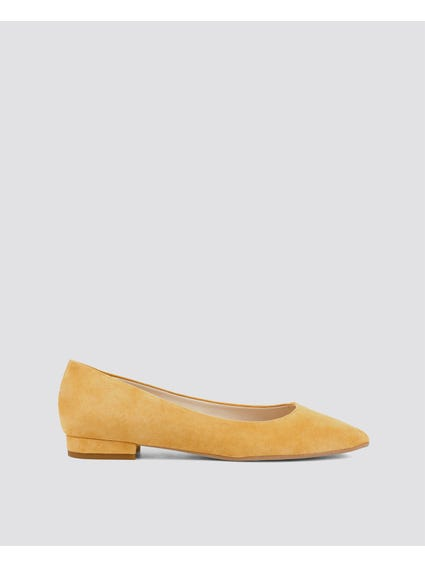 Yellow Mare-mare Flat Shoes