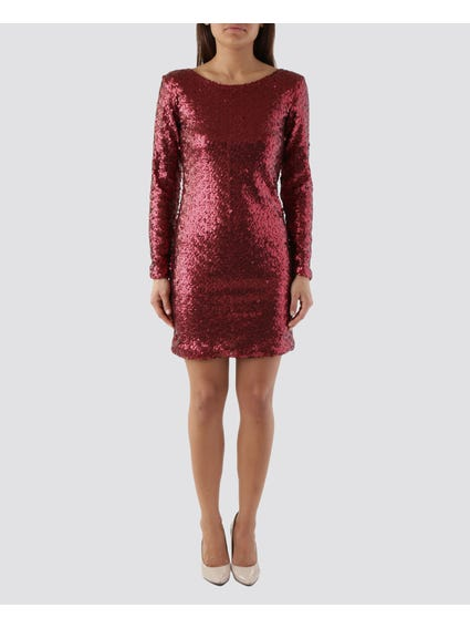 Embellished Sequin Dress