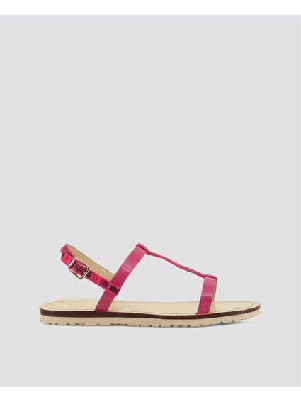 Pink Chic Flat Sandals