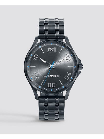 Grey Dial Stainless Steel Watch