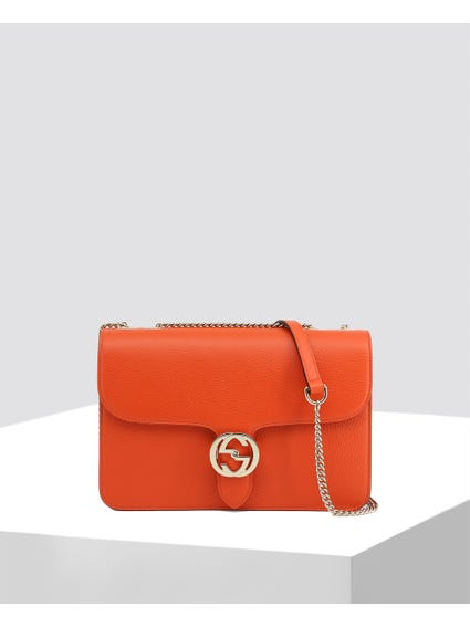Orange Full Linked Crossbody Bag