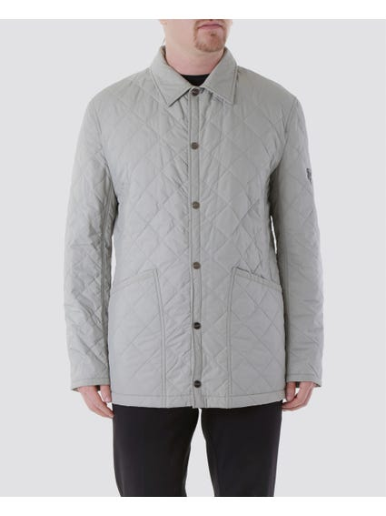 Grey Slant Big Open Pocket Jacket